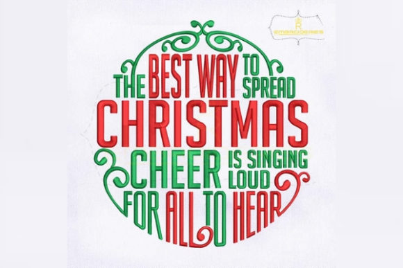 The Best Way to Spread Christmas Cheer Embroidery