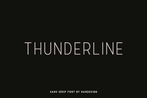 Print on Demand: Thunderline Sans Serif Font By Nan Design