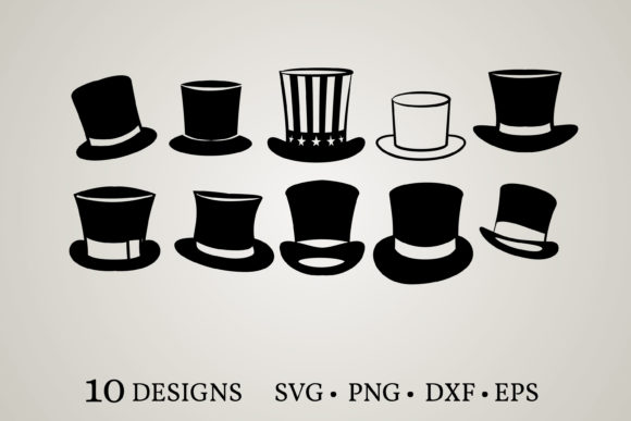 Download Free Top Hat Graphic By Euphoria Design Creative Fabrica for Cricut Explore, Silhouette and other cutting machines.