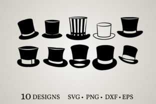 Top Hat Graphic Crafts By Euphoria Design