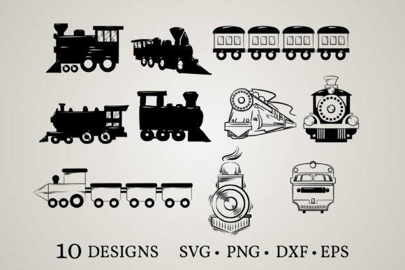 Train Bundle Graphic Crafts By Euphoria Design