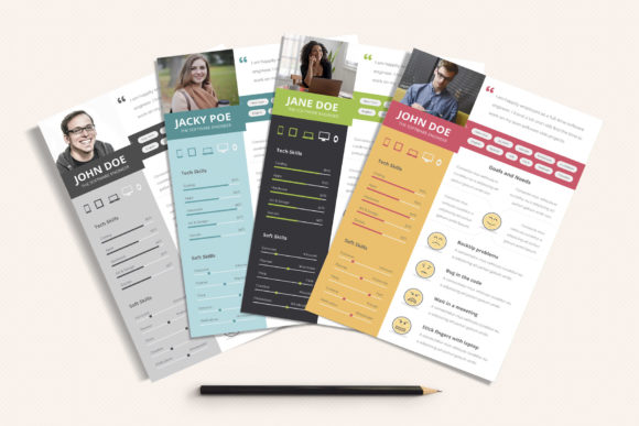 Download Free Ux Workflow Proto Persona Cards Vol 01 Graphic By Sargatal for Cricut Explore, Silhouette and other cutting machines.