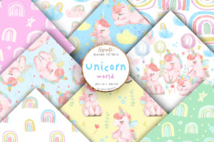 Unicorn Rainbow Patterns Graphic Patterns By Hippogifts