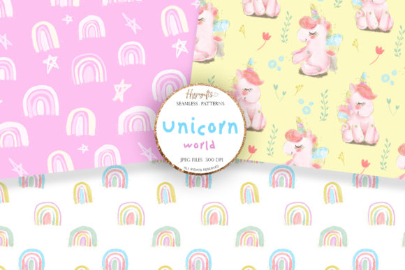 Unicorn Rainbow Patterns Graphic Patterns By Hippogifts - Image 2