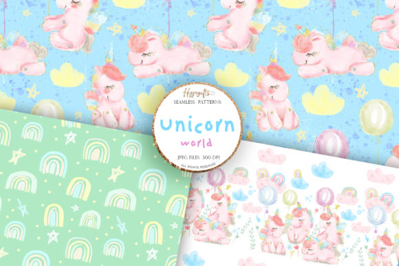 Unicorn Rainbow Patterns Graphic Patterns By Hippogifts - Image 4