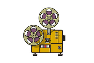 Download Free Vintage Movie Film Projector Retro Full Graphic By Patrimonio for Cricut Explore, Silhouette and other cutting machines.