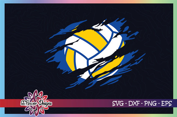 Download Free Volleyball Torn Volleyball Graphic By Ssflower Creative Fabrica for Cricut Explore, Silhouette and other cutting machines.