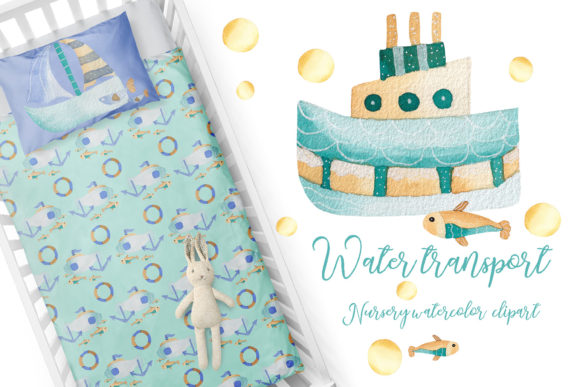 Print on Demand: Water Transport  Nursery Collection Graphic Illustrations By Andreea Eremia Design