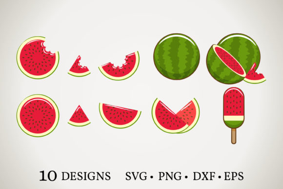 Download Free Watermelon Bundle Graphic By Euphoria Design Creative Fabrica for Cricut Explore, Silhouette and other cutting machines.