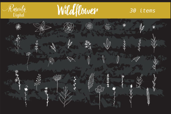 Wedding Wildflower Flowers Graphic By Rasveta Creative Fabrica