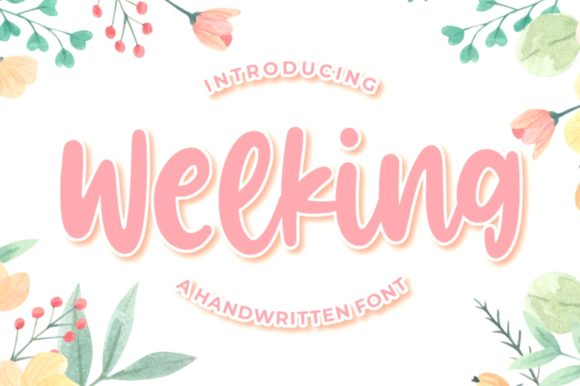 Print on Demand: Welking Script & Handwritten Font By goodjavastudio