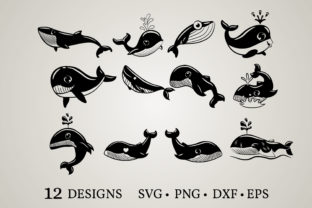 Whale Bundle Graphic Crafts By Euphoria Design