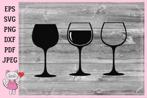 Print on Demand: Wine Glasses Graphic Illustrations By  Magic world of design