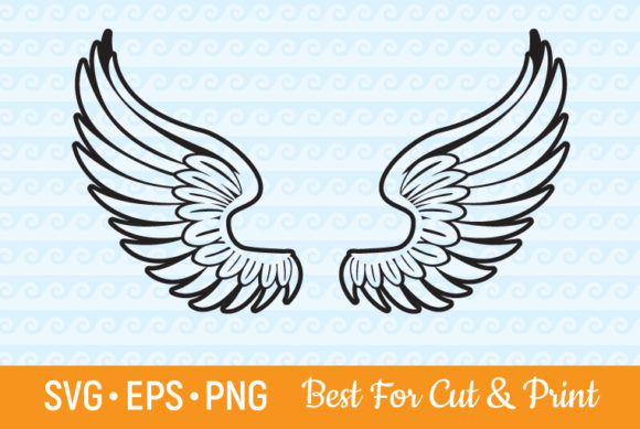 Download Free Wings Angel Heaven Feather Flying Graphic By Olimpdesign for Cricut Explore, Silhouette and other cutting machines.