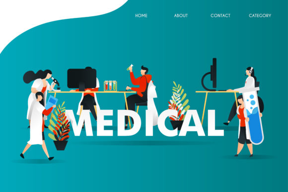 Illustration of Research in Laboratory Graphic Graphic Templates By setiawanarief111