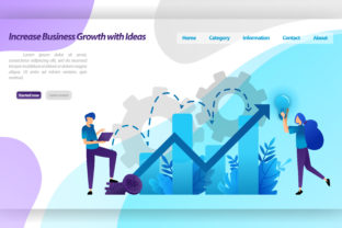Download Free Landing Page Of Increase Business Growth Graphic By for Cricut Explore, Silhouette and other cutting machines.