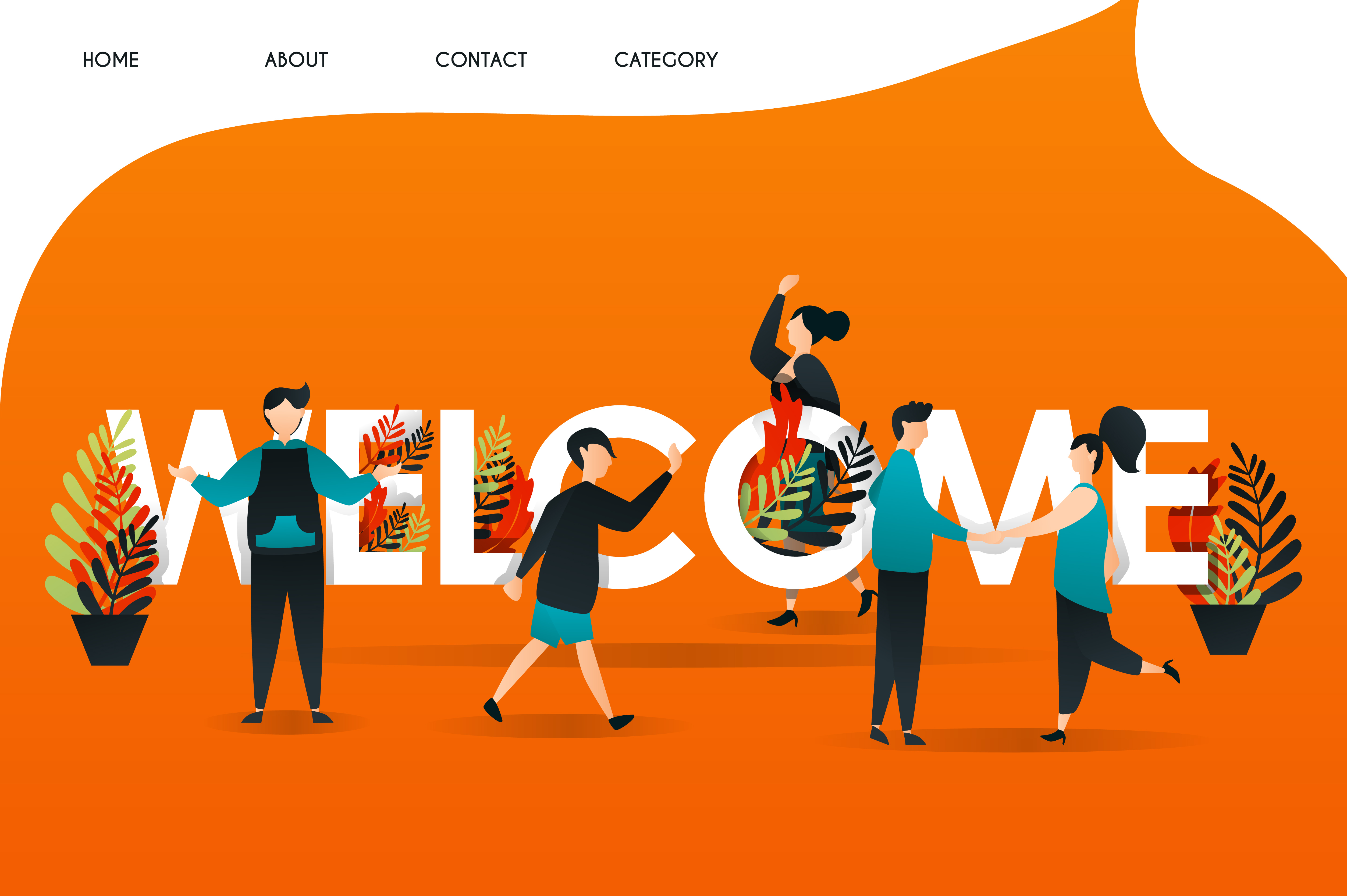 Download Free Website Illustration Of Welcome Page Graphic By Setiawanarief111 SVG Cut Files