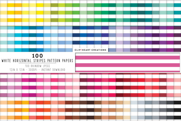 100 White Striped Papers Graphic By Clipheartcreations