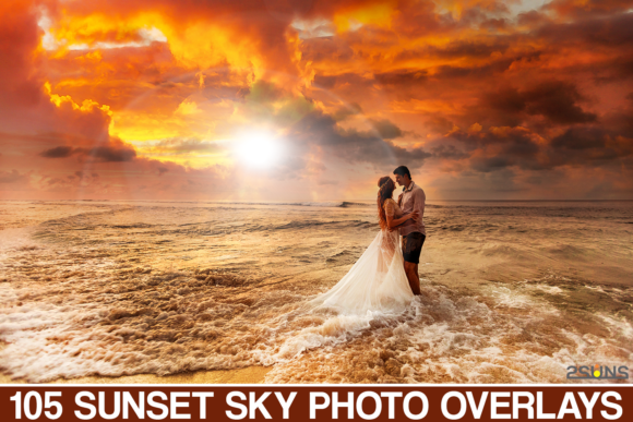 105 Sunset Sky Photo Overlays Graphic Actions & Presets By 2SUNS