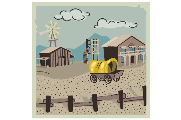 Old West Scene Farm & Country Craft Cut File By Creative Fabrica Crafts
