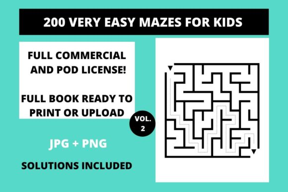 Download Free 200 Very Easy Mazes For Kids Vol 2 Graphic By Fleur De Tango for Cricut Explore, Silhouette and other cutting machines.