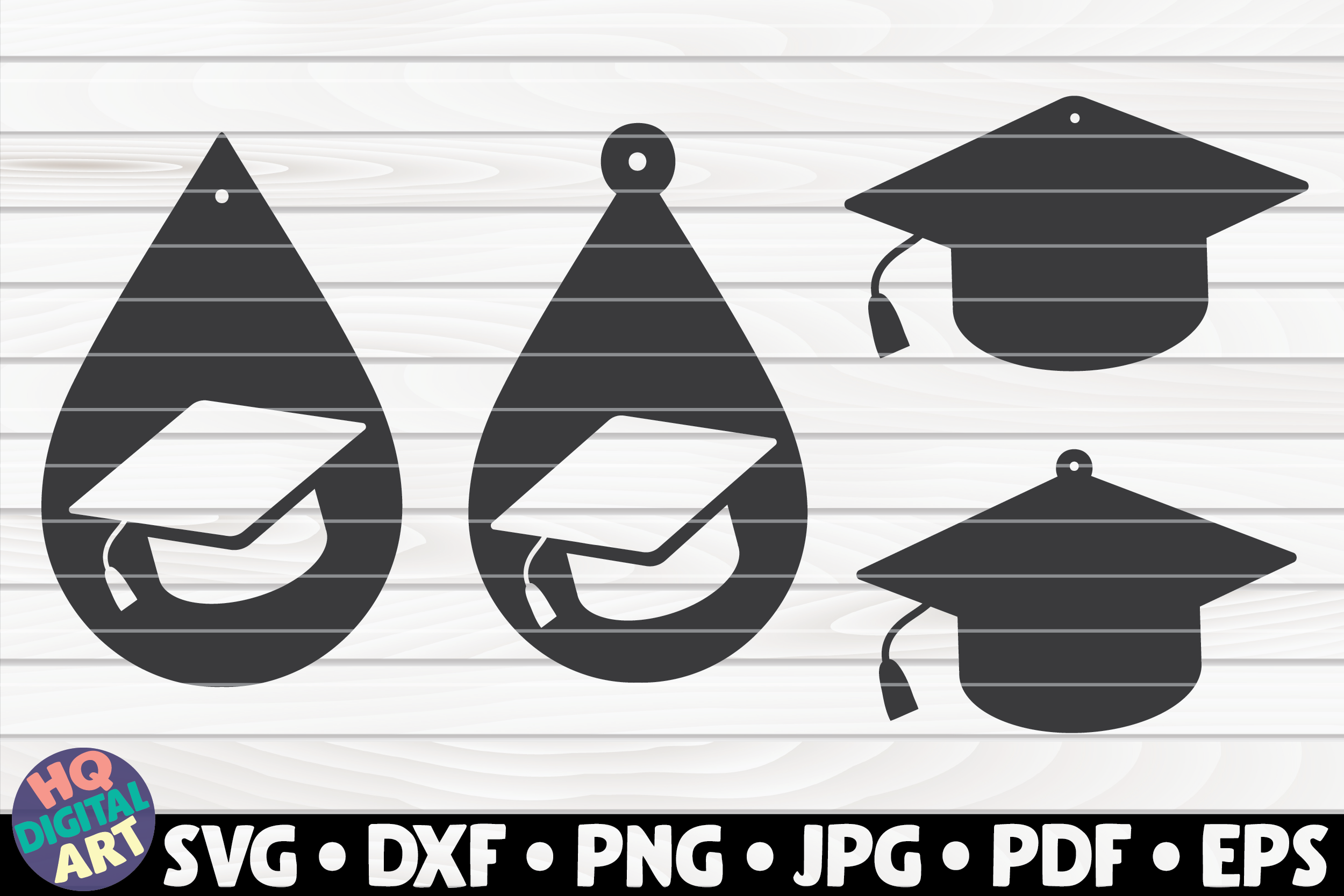 Download Free 4 Graduation Teardrop Earrings Graphic By Mihaibadea95 SVG Cut Files