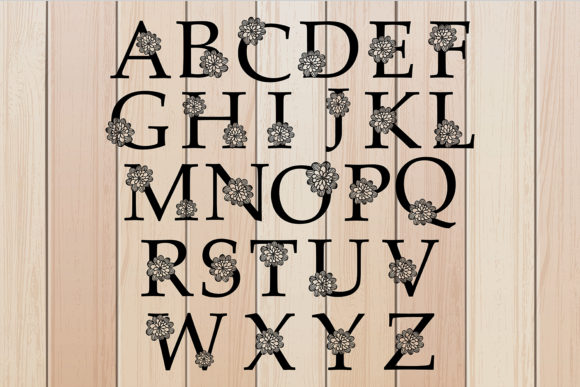 Download Free A To Z Floral Alphabets Cut Files Graphic By Diycuttingfiles for Cricut Explore, Silhouette and other cutting machines.