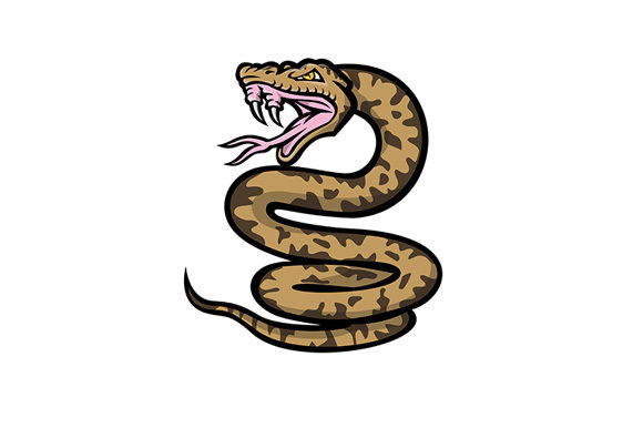 Download Free Aggressive Okinawa Habu Snake Mascot Graphic By Patrimonio for Cricut Explore, Silhouette and other cutting machines.