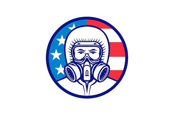 Download Free American Industrial Worker Wearing Graphic By Patrimonio for Cricut Explore, Silhouette and other cutting machines.