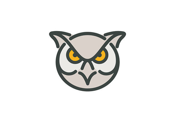 Download Free Angry Great Horned Owl Head Mono Line Graphic By Patrimonio for Cricut Explore, Silhouette and other cutting machines.