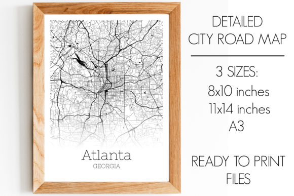 Print on Demand: Atlanta Georgia City Map Graphic Photos By SVGExpress