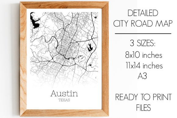 Print on Demand: Austin Texas City Map Graphic Photos By SVGExpress