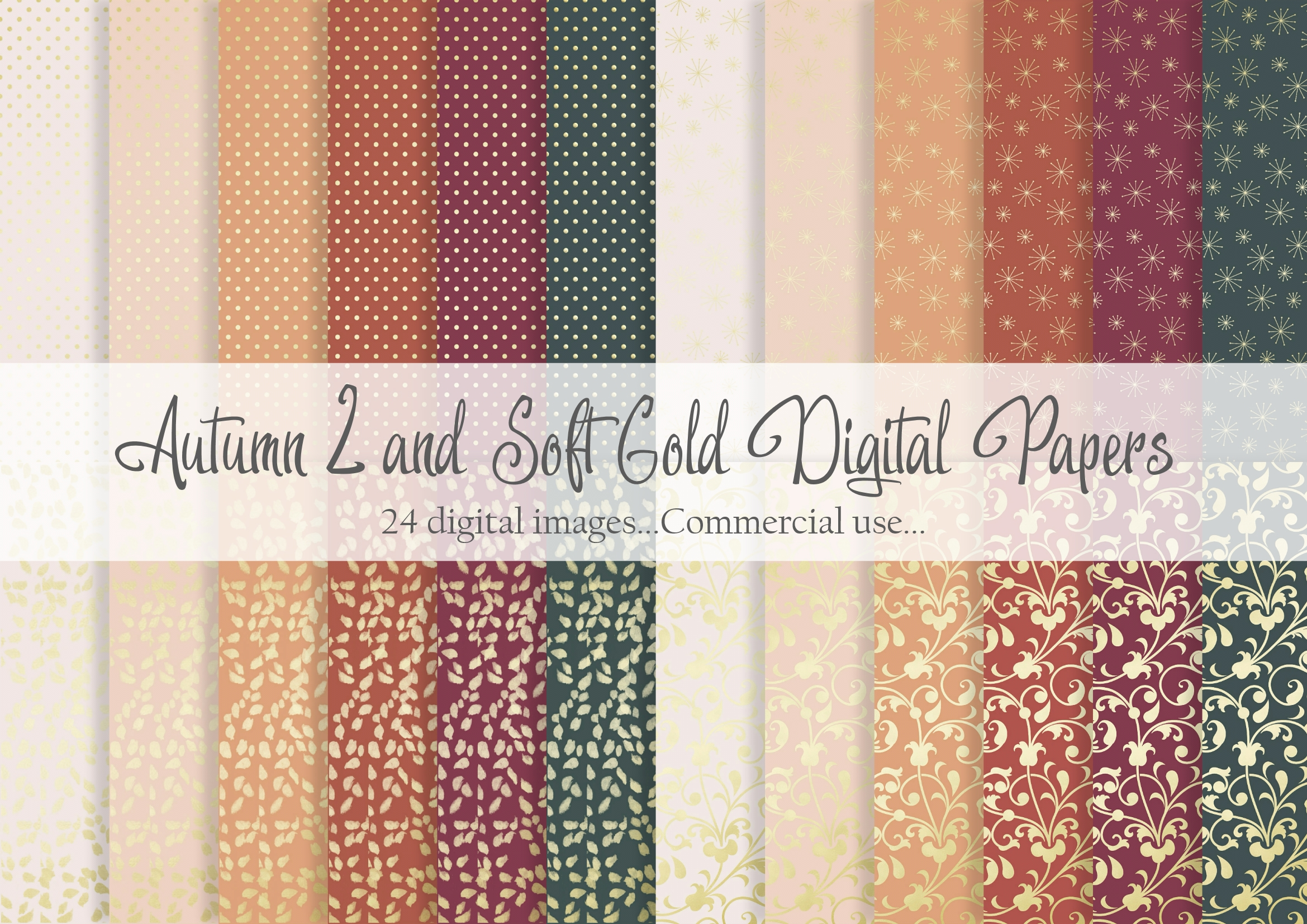 Download Free Autumn 2 And Soft Gold Digital Papers Graphic By Simply Paper for Cricut Explore, Silhouette and other cutting machines.