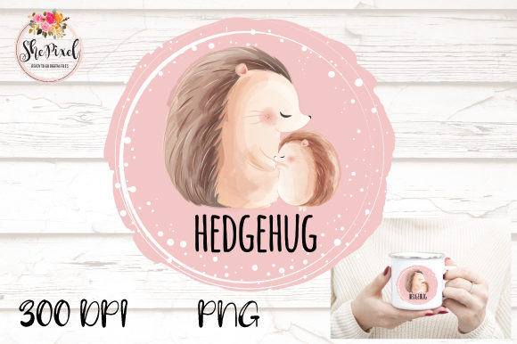 Print on Demand: Baby Hedgehog Clipart Graphic Illustrations By ShePixel