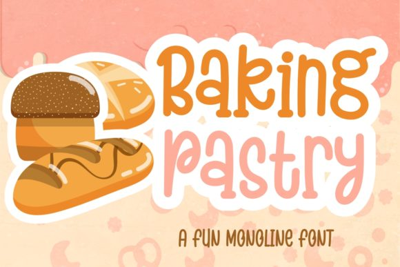 Download Free Baking Pastry Font By Hansco Creative Fabrica for Cricut Explore, Silhouette and other cutting machines.