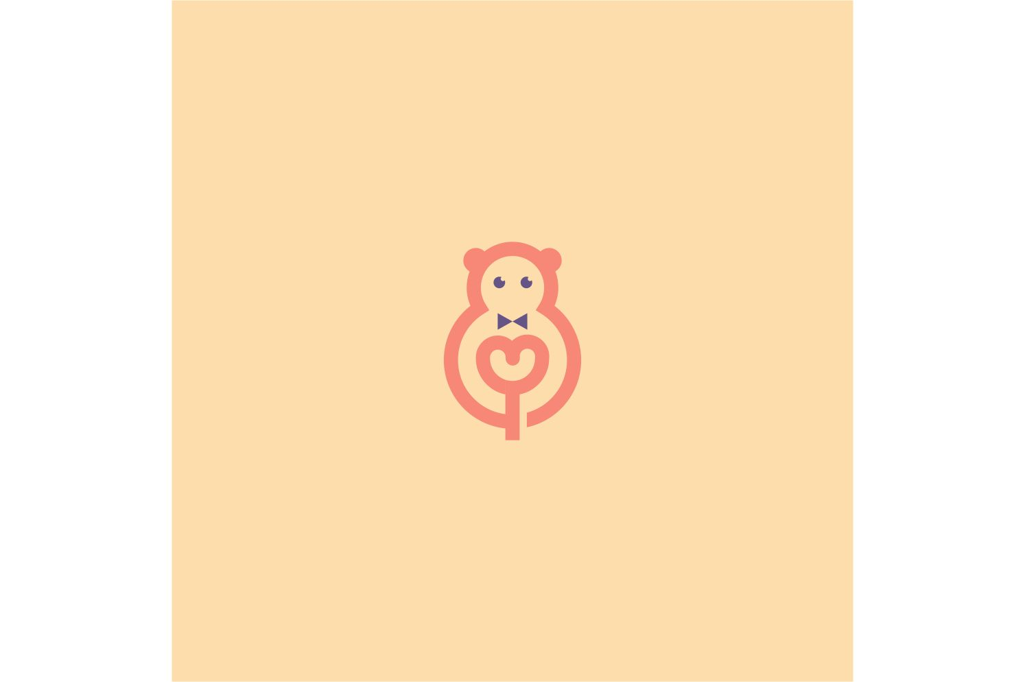 Download Free Bear Doll Logo Mascot Graphic By Bentang Tebe Creative Fabrica for Cricut Explore, Silhouette and other cutting machines.