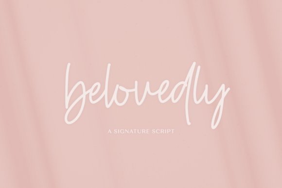 Print on Demand: Belovedly Script & Handwritten Font By BeckMcCormick