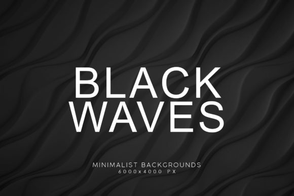 Print on Demand: Black Minimalist Wave Backgrounds 3 Graphic Backgrounds By ArtistMef