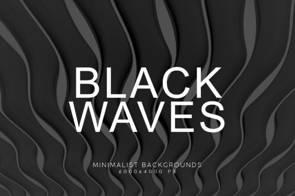 Print on Demand: Black Minimalist Wave Backgrounds 4 Graphic Backgrounds By ArtistMef