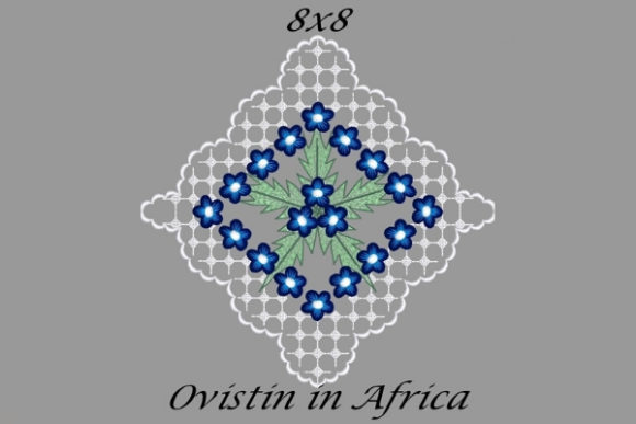 Blue Floral Quilt Block Sewing & Crafts Embroidery Design By Ovistin in Africa