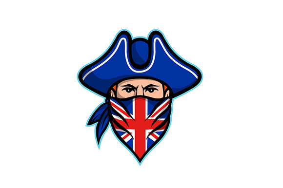 Download Free British Highwayman Wearing Bandana Mascot Graphic By Patrimonio for Cricut Explore, Silhouette and other cutting machines.