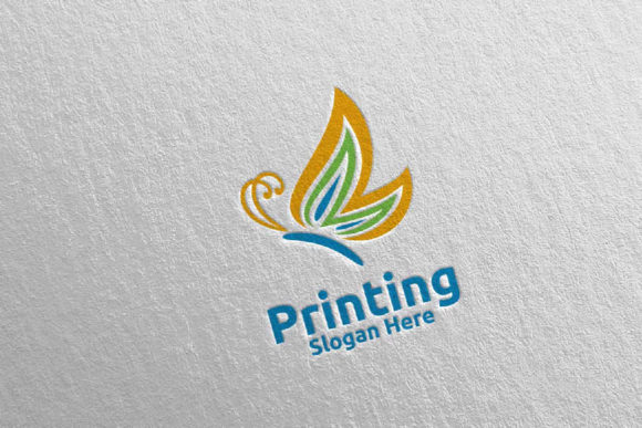 Butterfly Printing Company Logo 21 Graphic Logos By denayunecf