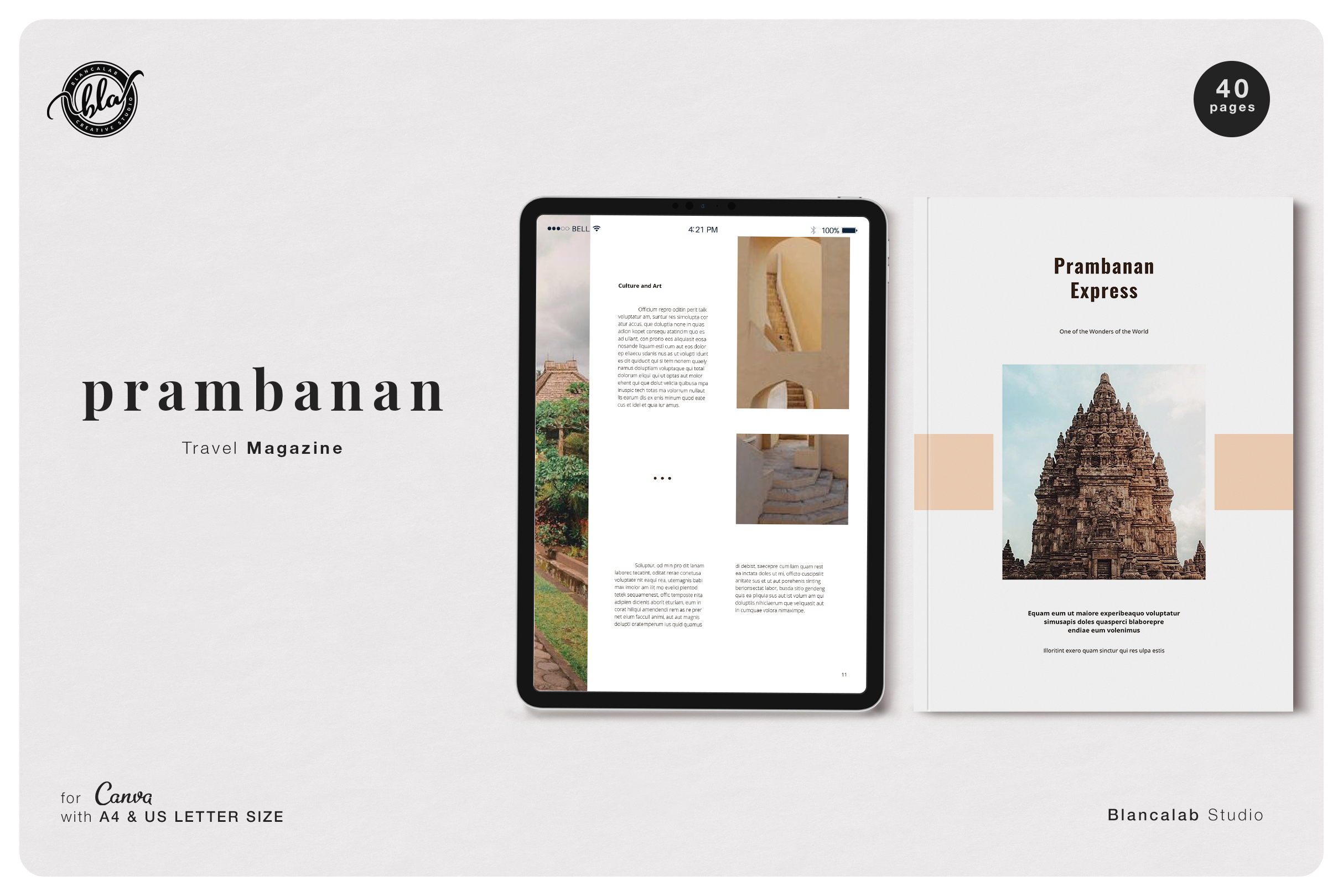 Download Free Canva Tour Magazine Prambanan Graphic By Blancalab Studio for Cricut Explore, Silhouette and other cutting machines.