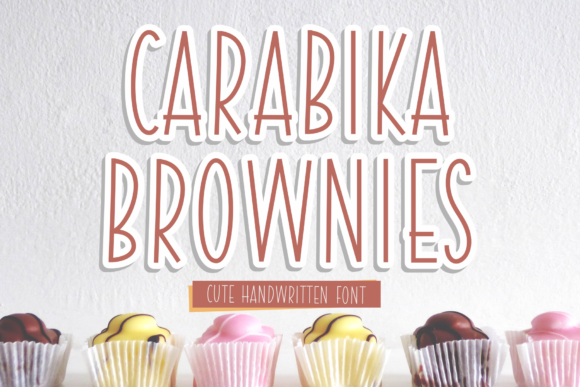 Print on Demand: Carabika Brownies Script & Handwritten Font By syakaltype
