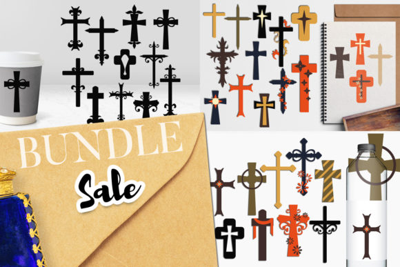 Print on Demand: Christian Cross Bundle Graphic Illustrations By Revidevi