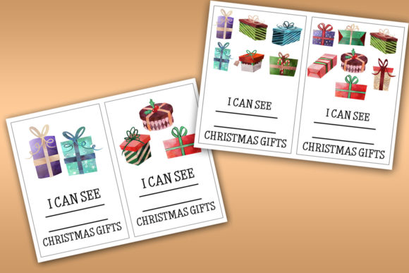 Download Free Christmas Gifts Counting Numbers 1 10 Grafik Von Happy for Cricut Explore, Silhouette and other cutting machines.
