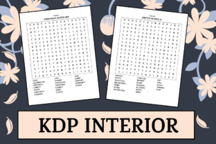 Print on Demand: Christmas Word Search   KDP Interior Graphic KDP Interiors By KDP Mastermind