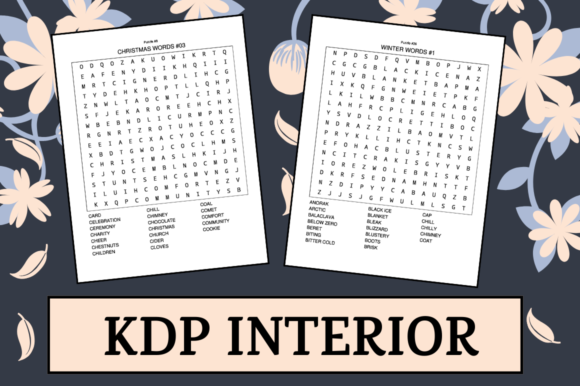 Print on Demand: Christmas Word Search | KDP Interior Graphic KDP Interiors By KDP Mastermind