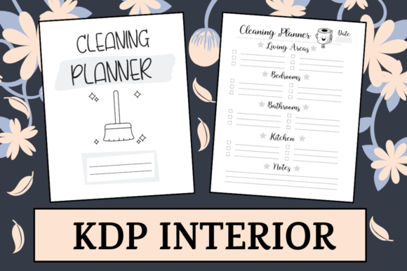 Print on Demand: Cleaning Planner | KDP Interior Graphic KDP Interiors By KDP Mastermind