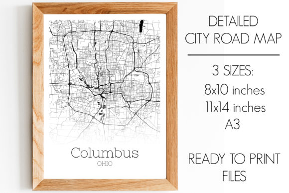 Download Free Columbus Ohio City Map Graphic By Svgexpress Creative Fabrica for Cricut Explore, Silhouette and other cutting machines.